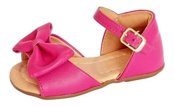 Sandalia Rosa Pink Infantil Para Bebe Sandalia Com Tope Rosa