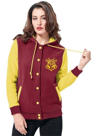 Jaqueta Harry Potter Hogwarts Casaco Moletom Feminino Blusa