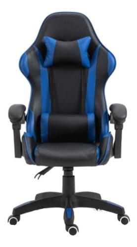 Imagen 1 de 4 de Silla de escritorio Tedge 435882 gamer ergonómica  negra con tapizado de cuero sintético