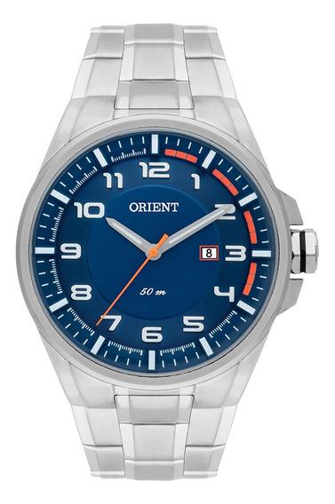 Relógio Masculino Casual Prata Orient Mbss1291 D2sx