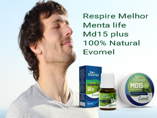 Kit Sinusite Menta Life Md15 Plus Evomel 100% Natural