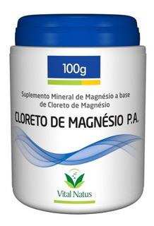 Cloreto De Magnésio P.a. Em Pó - 100mg - Vital Natus