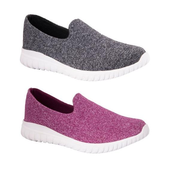 Kit 2 Pares De Tenis Urban Shoes 390 Gris/ Fiusha Ves 177456