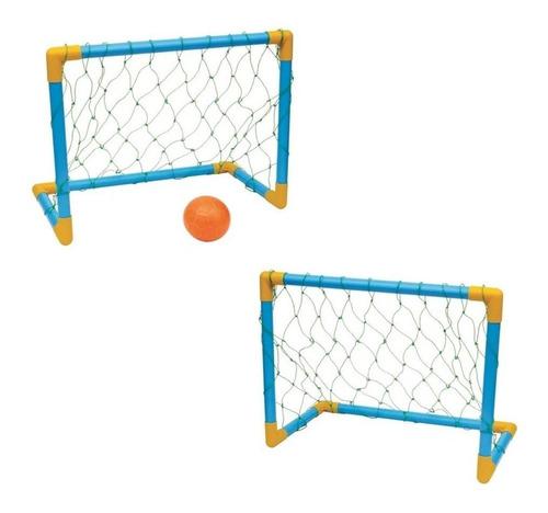Trave De Futebol Mini Golzinho Infantil Kit C/ 2un + 2 Bolas