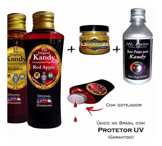 Kandy Original Usa 2 Unid + 100gr Metal Flakes + 300ml Base