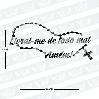Adesivo Livrai-me De Todo Mal, Amém Para Carro, Moto, Etc