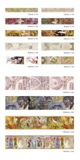Cintas Decorativas Washi Tape Art Noveau Alphonse Mucha