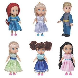 Liberty Importa Moda Princesa Juego De 6 Mini Munecas De 59
