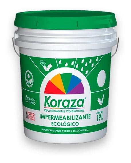 Impermeabilizante Ecologico Koraza De Llanta / 3 Años - 19l