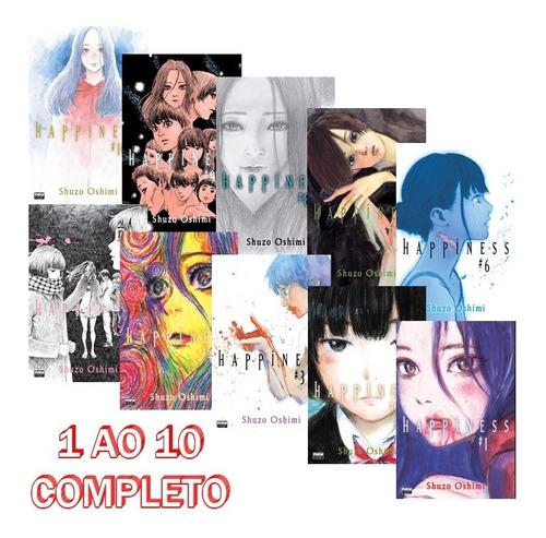 Happiness 1 Ao 10 - Completo! Mangá Newpop! Novo E Lacrado!