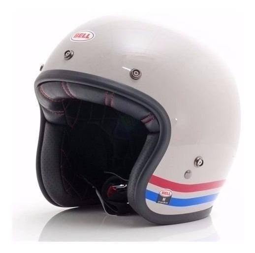 Capacete Bell Custom 500 Stripes Branco Harley Davidson