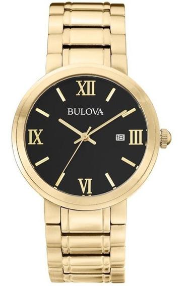 Relógio Bulova Social Classic Dourado 3atm Analógic Wb26146u