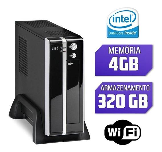 Mini Cpu Intel Dual Core 4gb 320gb Wifi C/ Serial