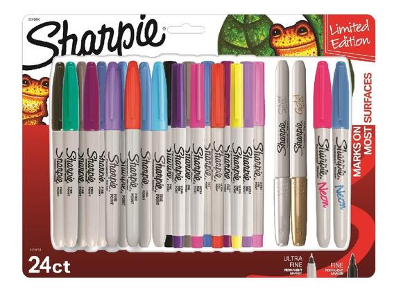Marcadores Sharpie Permanente Mix X24 Colores Surtidos