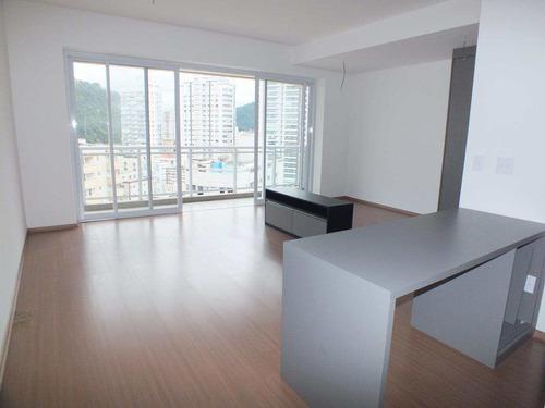 Apartamento Com 1 Dorm, Pompéia, Santos - R$ 600 Mil, Cod: 1056 - V1056