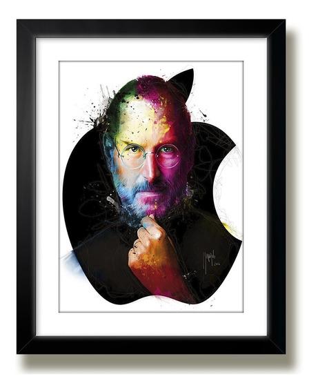 Quadro Steve Jobs Apple Tecnologia Art M40 Decoracao Mold Kp