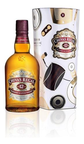 Imagen 1 de 10 de Whisky Chivas Regal 12 Años Edic. Limitada Lstn 1000ml Lata