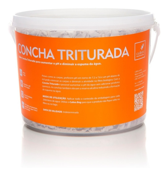 Balde Concha Triturada 2,2 Litros Cubos