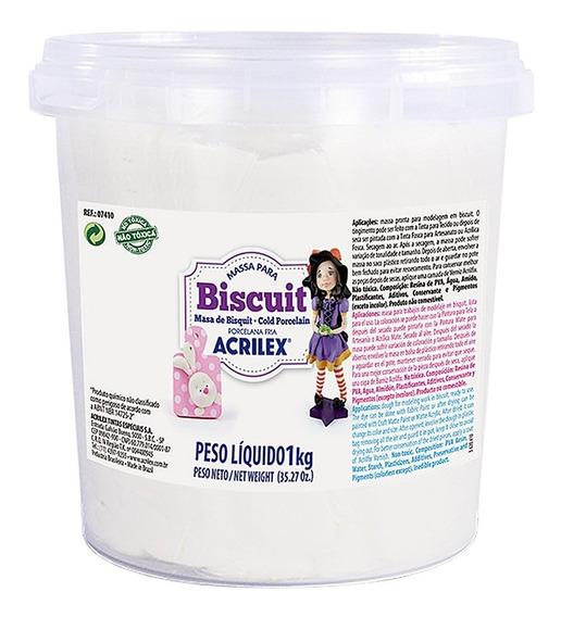 Massa Para Biscuit Branco Acrilex Porcelana Fria (01 Kg)