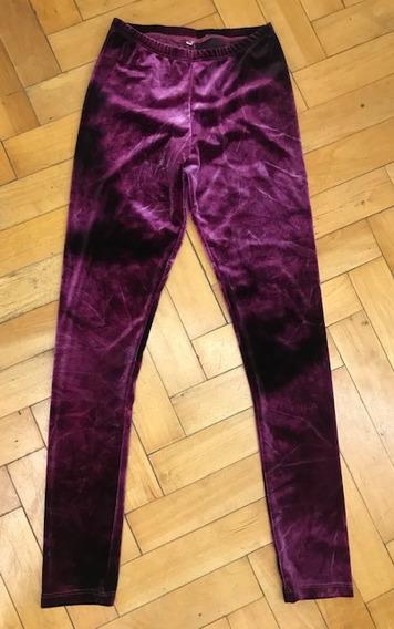 Calzas Mujer 2x1 Engomada Plush Batic Fucsia Dorado Negro