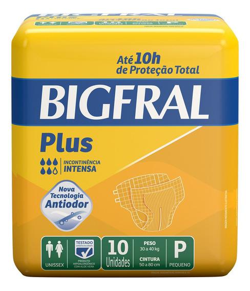 Fralda Geriátrica Bigfral Plus P - 10 Unidades