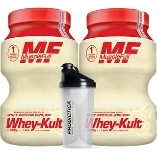 2x Whey-kult Yakult 1,030kg - Muscle Full + Brinde