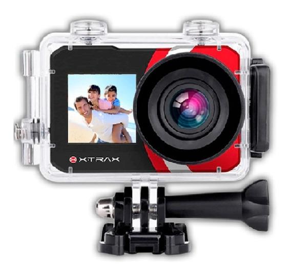 Câmera Digital E Filmadora Xtrax Selfie 4k 16mp Preta