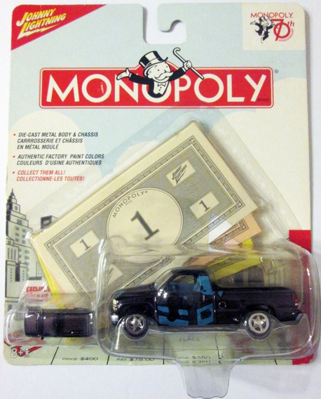 Johnny Lightning Monopoly 2000 Chevy Silverado Escala: 164
