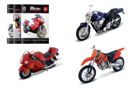 Clarín Colección Motos De Leyenda Set 4 Con 3 Motos
