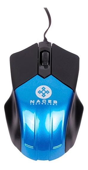 Mouse Retractil Mini Usb 3 Botones 1000dpi Na-037 Naceb /a