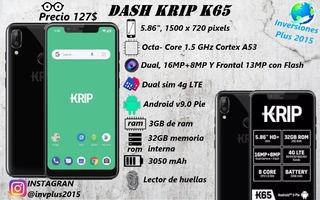 Krip K65 3+32gb Dual Sim 4g Android Doble Camara