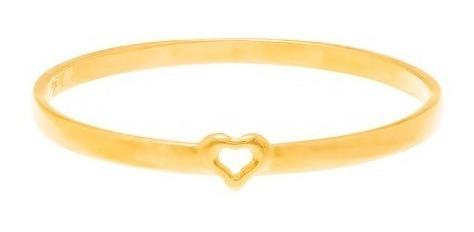 Anel Rommanel Folheado Ouro 18k Mini Coração Vazado Lindo