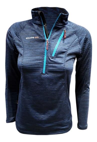 Buzo Micro Polar Termico Running Deportivo Mujer Invierno Dama Micropolar Oferta Quilmes Deporte Sky Frio