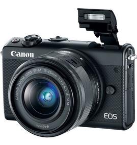 Camera Canon Eos M100 Kit 15-45mm Preto