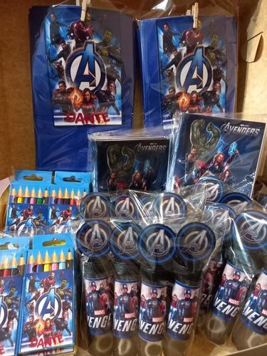 Imagen 1 de 6 de Pack Sorpresitas Avengers Súper Héroes Personalizadas