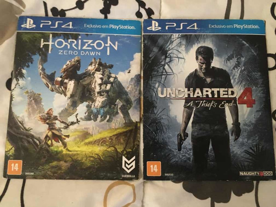 Pacote Uncharted 4 + Horizon Zero Dawn - Ps4