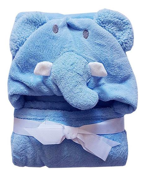 Manta Com Capuz Baby Elefante - Jolitex