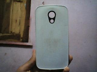 Capa Preto Com Branca Para Smatphone Motorola 2 Geração