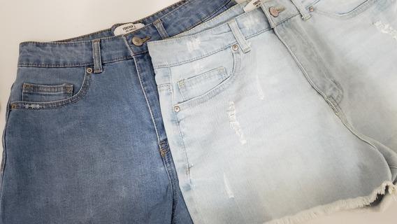 Kit Dois Shorts Jeans Forever Azul Original Tamanho 36 Novo