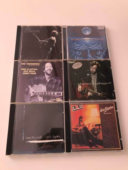 Lote 6 Cds Eric Clapton