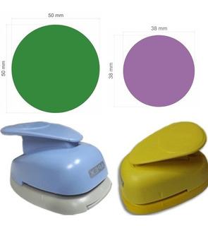 Furador Scrapbook Circulo Liso 5cm + Circulo Liso 3,8cm