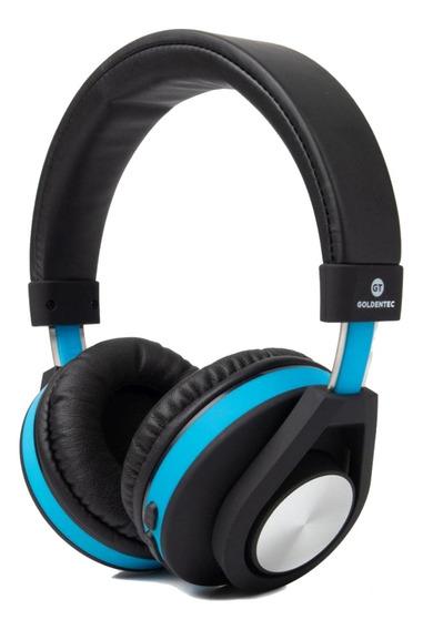 Headphone Bluetooth Gt Follow Azul Com Bateria Recarregável