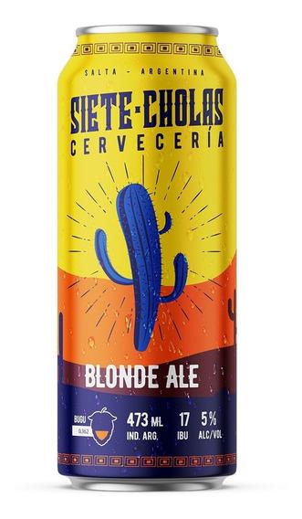 Cerveza Siete Cholas Blonde Ale 473cc Pack X 12 Latas