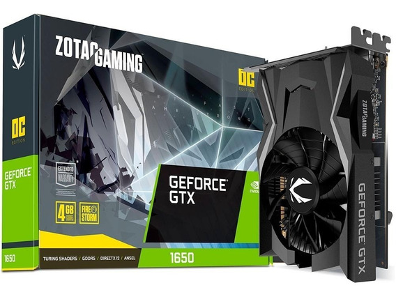 Gtx 1650 4gb Placa De Video Gtx1650 Zotac Gaming Nova!