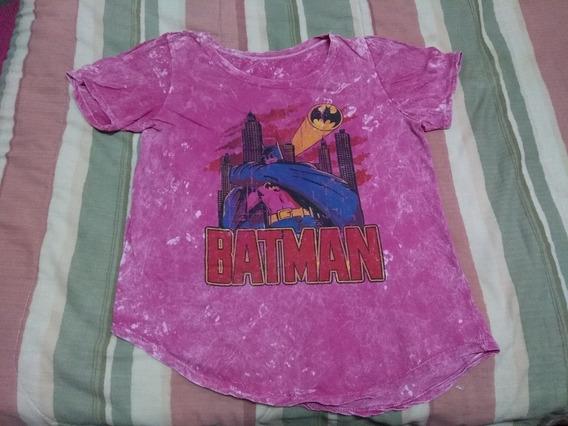 Remera Batik Fucsia Batman Kalaka Simil Complot Rock