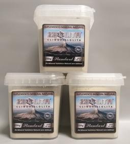 Kit Zeolita Clinoptilolita Standard 3x250g - Detox Natural