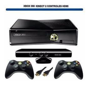 Xbox 360 Slim + Kinect E 2 Controles