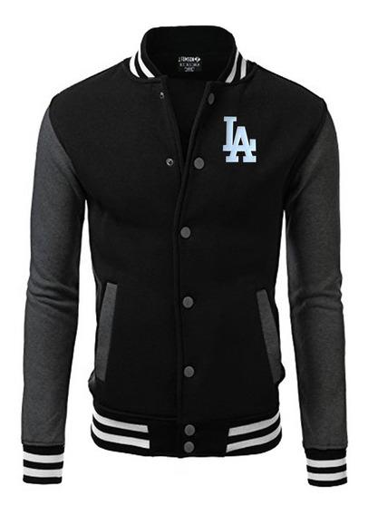 Jaqueta Blusa Baseball La Bordado Black Edition Usa !!