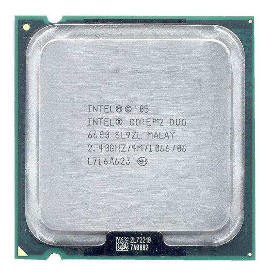 Processador Intel Core 2 Duo E6600 2.40ghz 4mb 1066 775 ¨