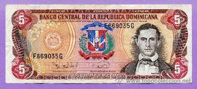 Billete De 5 Dominicanos
